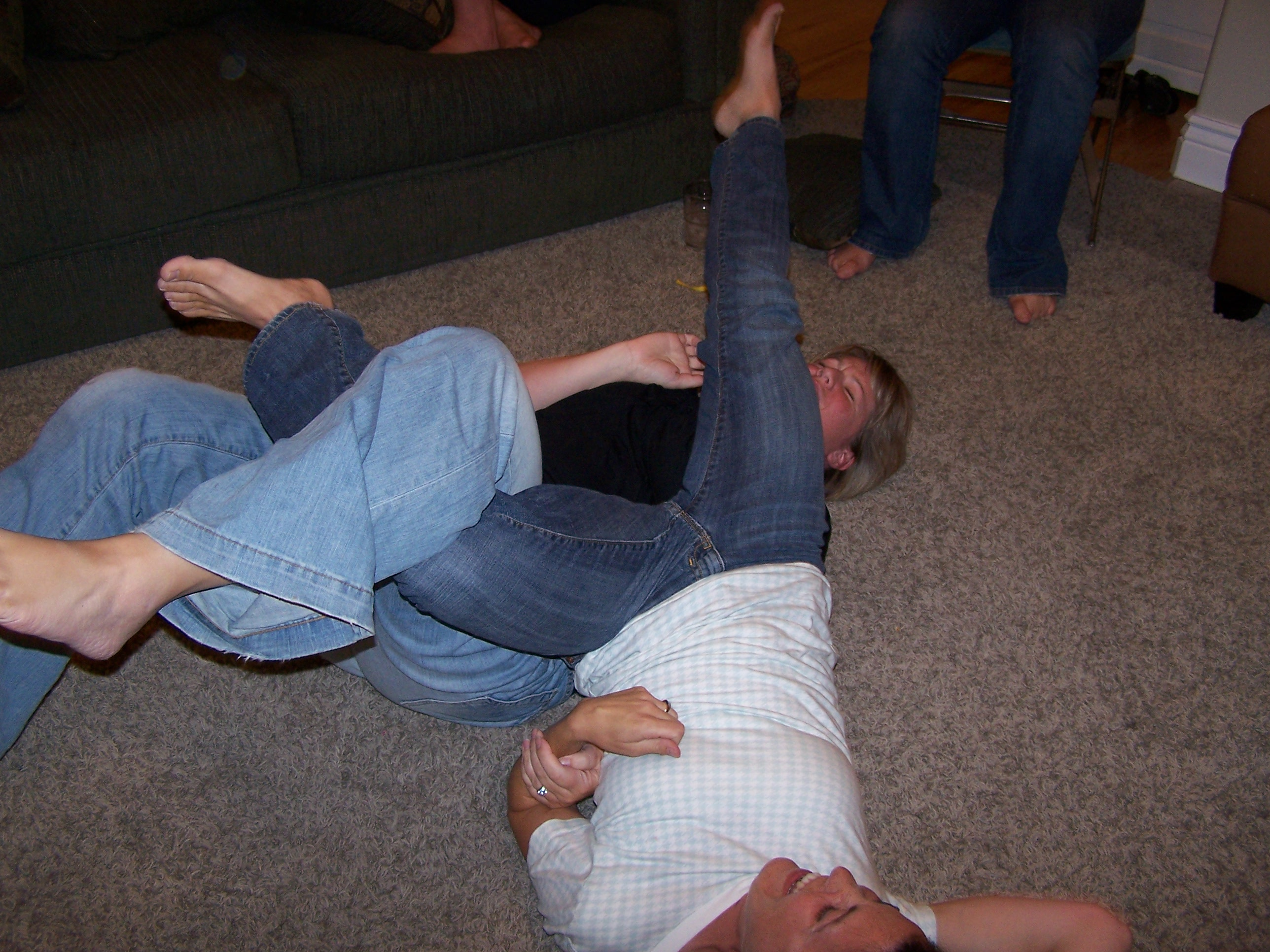 Yes, there was leg wrestling.